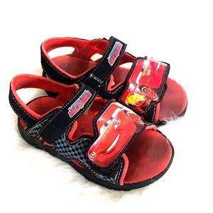 🚘 CARS-MOVIE 🚗 Toddler Boys light up sandals 7.5